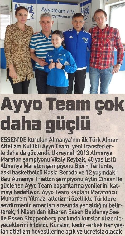 Kasia Borodo, Mustafa Karadeniz (Inh. Ayyo), Aylin Cinsar, Muharrem Yilmaz & Alexander Lubina. Quelle: sabah.com.tr